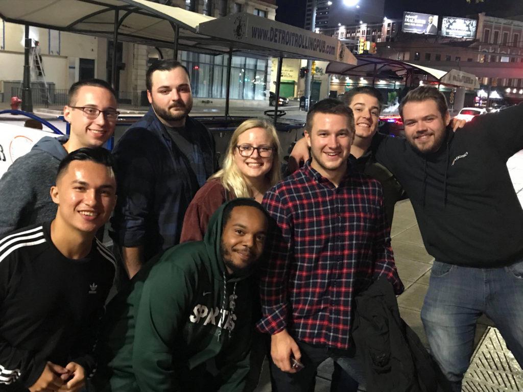 Detroit Rolling Pub – RJ Logistics 4th Quarter Kick – Off